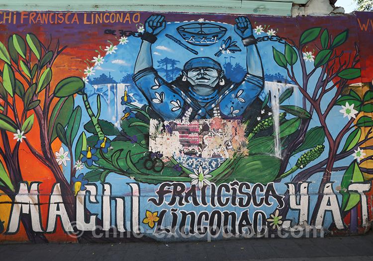 Peinture murale à Yungay, Santiago