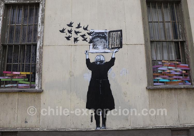 Imaginaires dans les rues de Valparaiso, street art magnifiques
