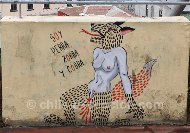 Street art politique des rues de Valparaiso