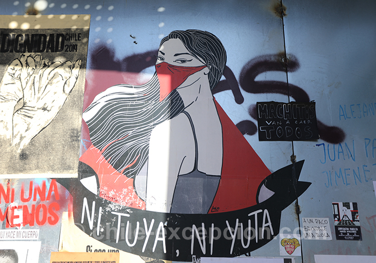 Ni tuya ni yuta, manifestations féministes au Chili
