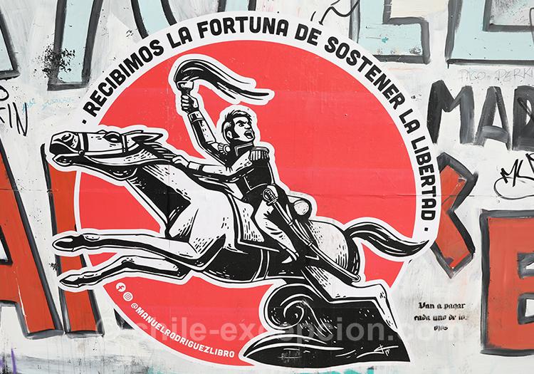 Recibimos la fortuna de sostener la libertad, manifestations au Chili