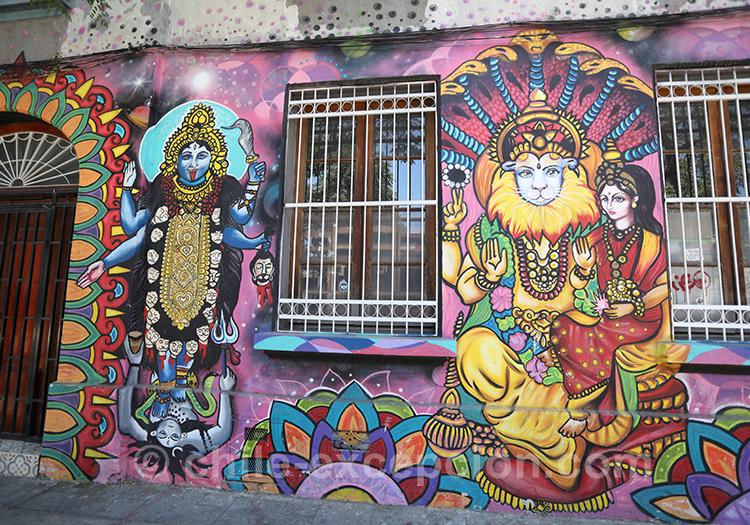 Peintures extraordinaires à Santiago