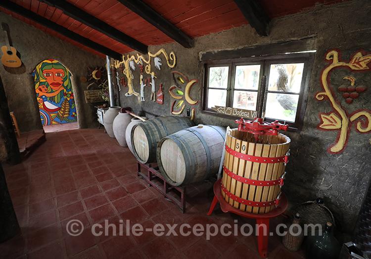 Tonneaux de la maison d'hôte Caliboro, Chili