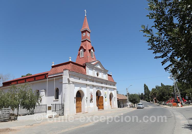 L'église du village de Paredones au Chili