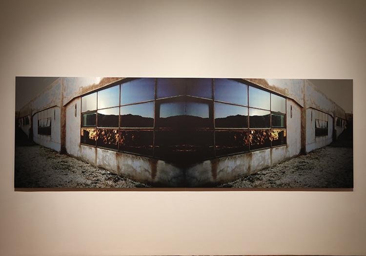 Effet d'optique du musée d'Arts Visuels, Santiago de Chile
