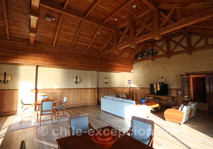 Salon principal de l'hôtel Loberías del Sur, Chili avec l'agence de voyage Chile Excepción