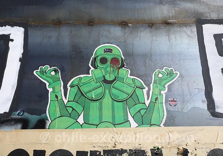 Graffitis et manifestations au Chili