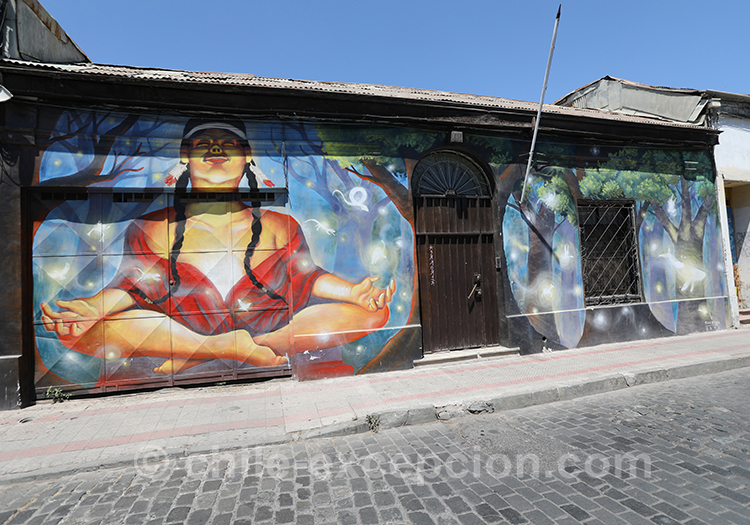 Façades colorées au Chili