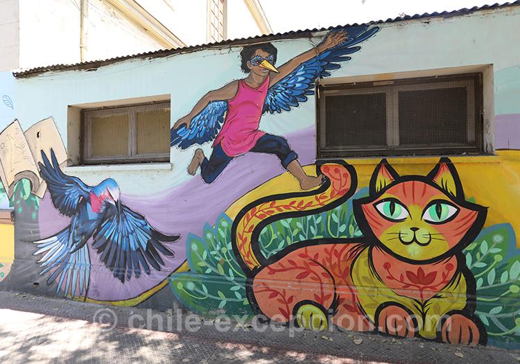 Superbe dessin coloré à Yungay, Santiago