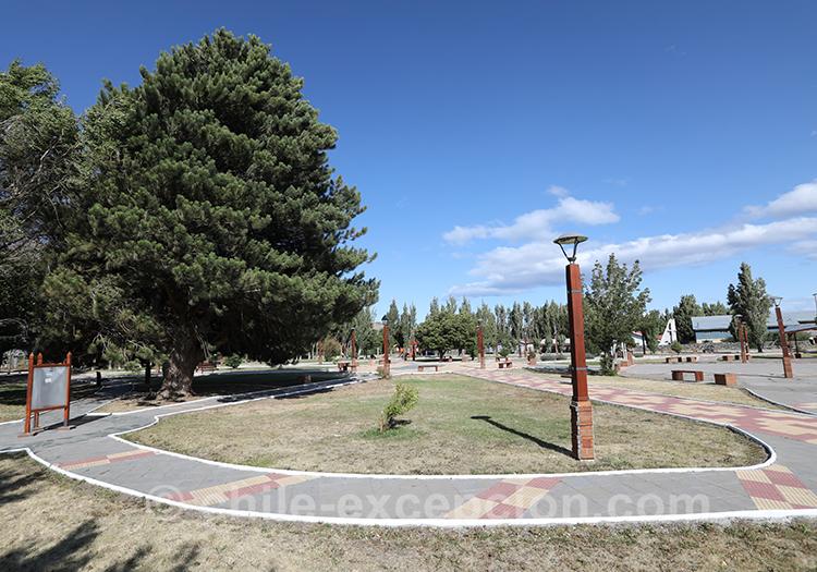Parc du village de Puerto Ibañez, région d'Aysen, Chili