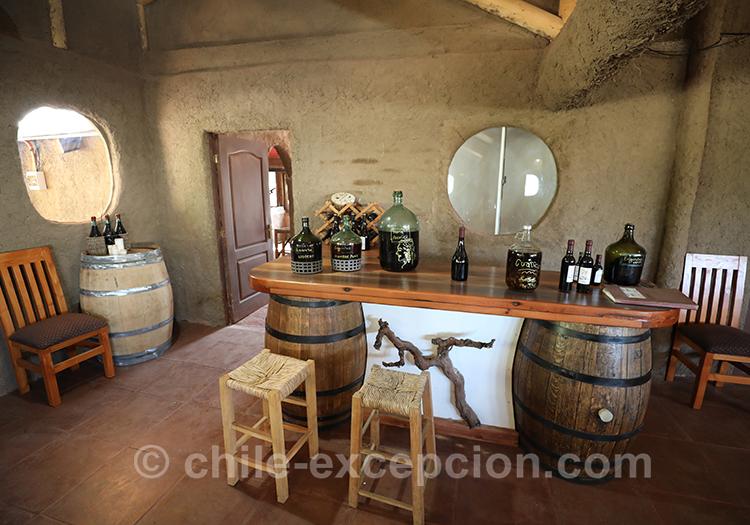 Dégustation de vin à la maison d'hôte Caliboro, Vallée del Maule, Chili