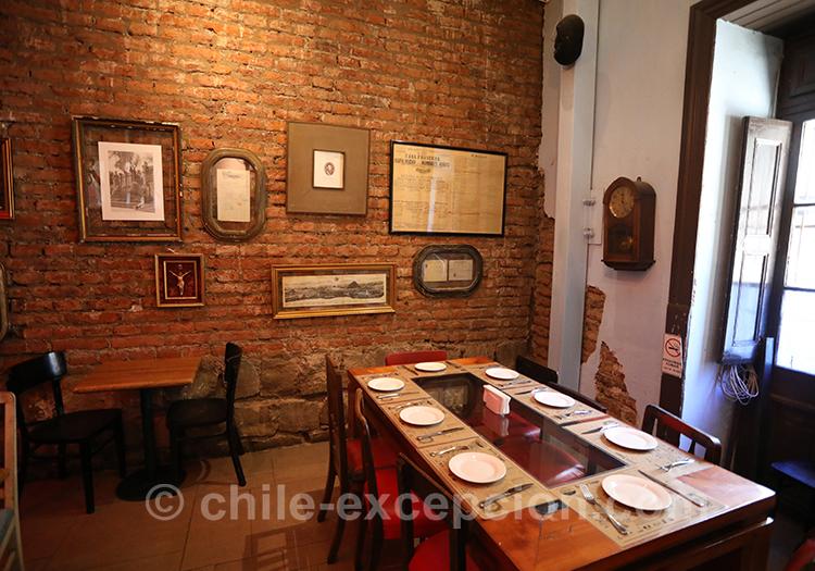 Trouver un restaurant français à Santiago, quartier Yungay