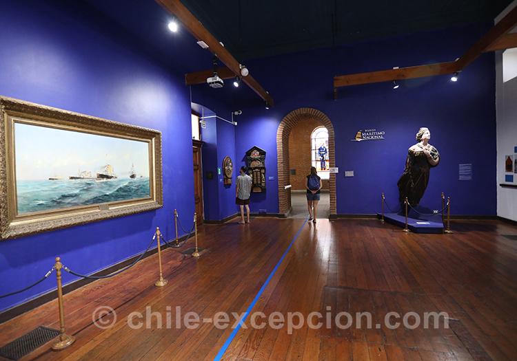 Salle intérieure du musée maritime national, Valparaiso