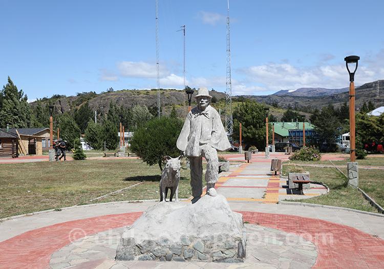 Statue du petit village Cerro Castillo, Chili