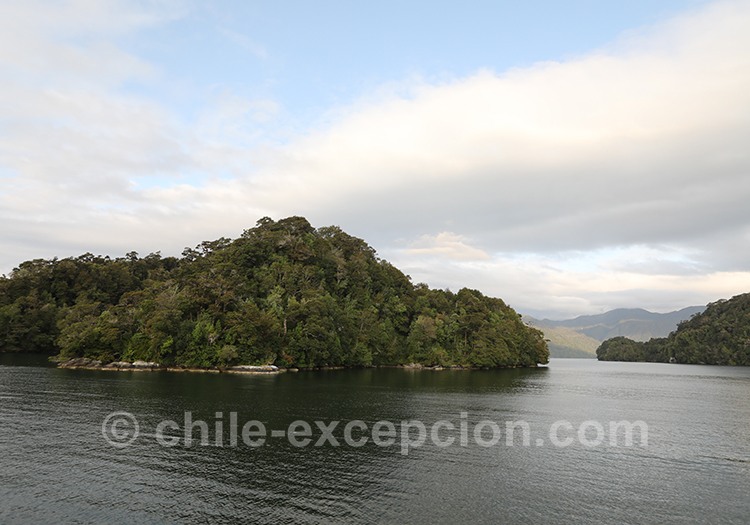 Cinco Hermanas, archipel sur le Fjord Aysen, Chili