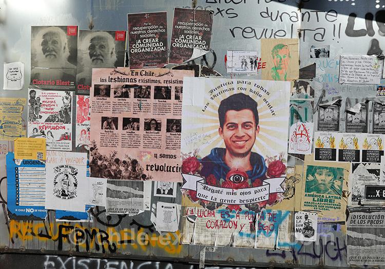 Politique et manifestation au Chili