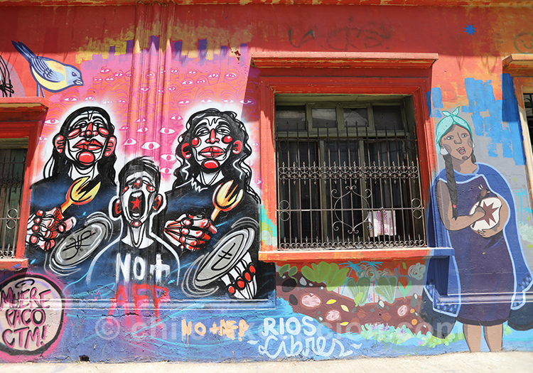 Les artistes de rue au Chili