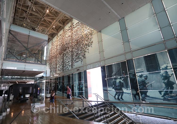 Musée de la Mémoire, entrée du musée, Santiago de Chile