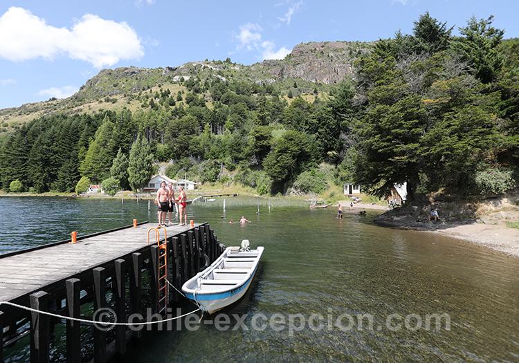 Se baigner dans le lac Elizalde, Coyhaique, Chili avec l'agence de voyage Chile Excepción