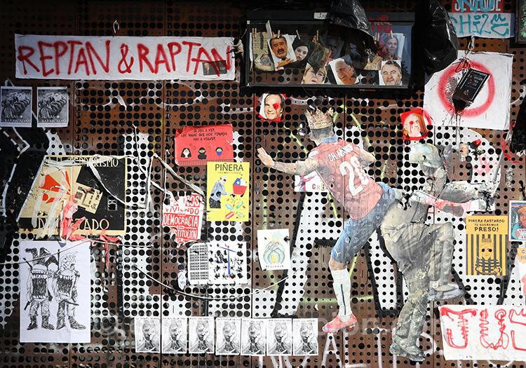 Que voir au Chili, traces des manifestations