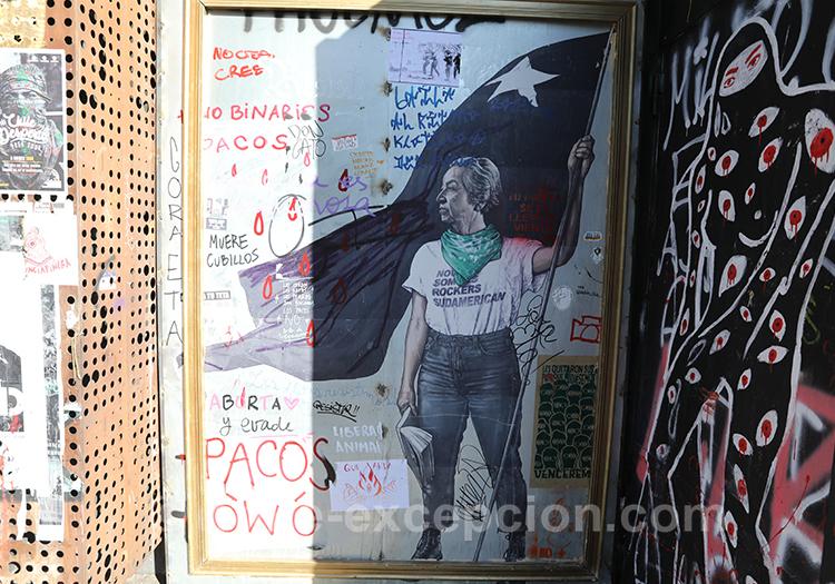 Aller à une manifestation au Chili