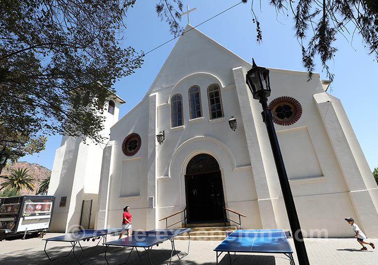 Extérieur de l'église de Lolol au Chili