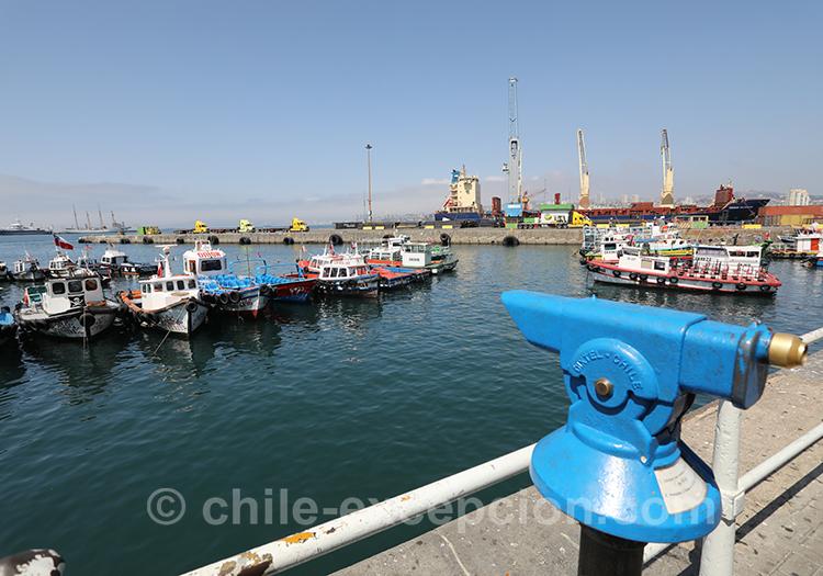 La pêche à Valparaiso, Chili