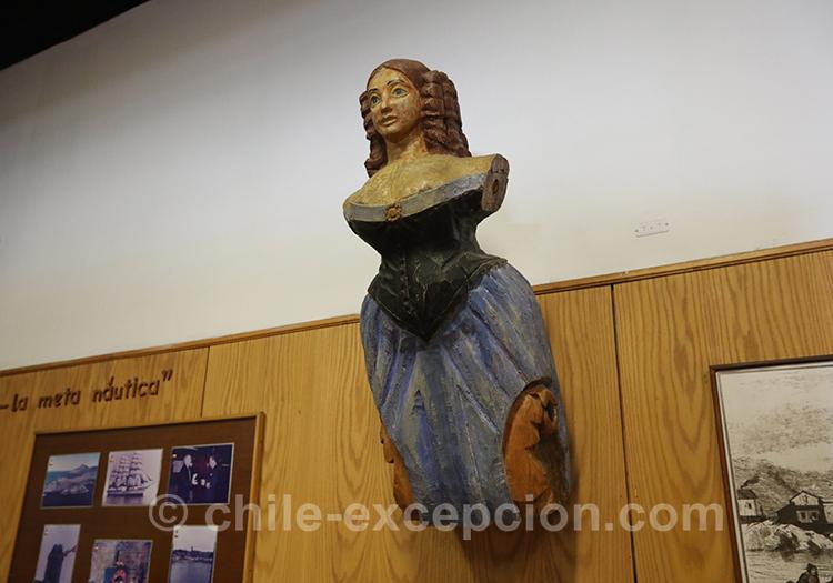 Bustes qu'il y avait sur les bateaux, musée maritime national, Valparaiso