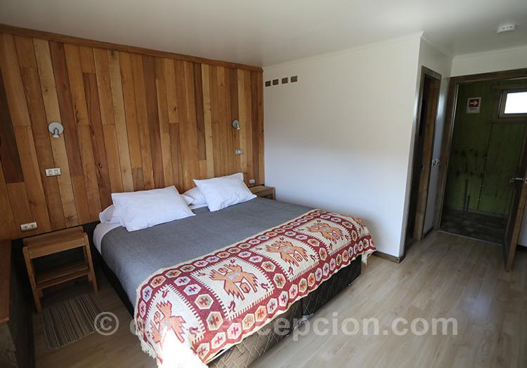Chambre du refuge Cerro Castillo, Chili avec l