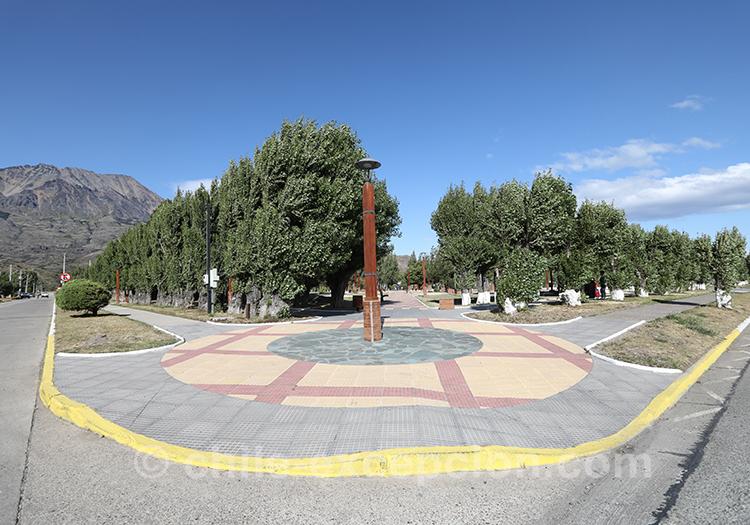 Place du village Puerto Ibañez, Chili