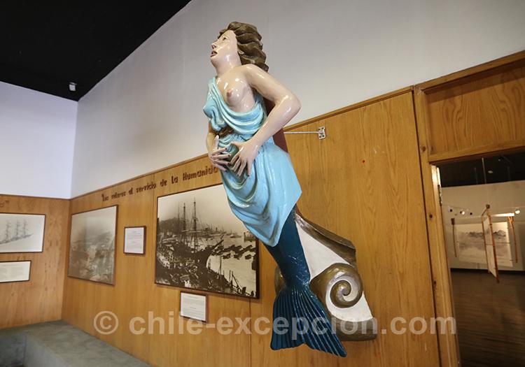 Art sur les bateau, musée maritime national, Valparaiso, Chili