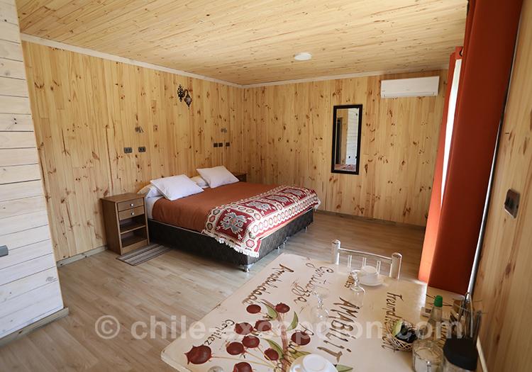 Grande chambre du refuge Cerro Castillo, Chili Patagonie australe avec l'agence de voyage Chile Excepción
