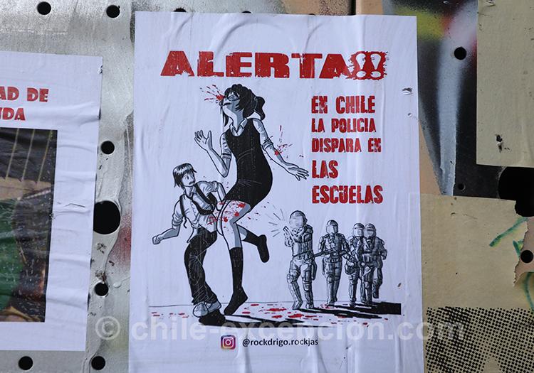 Alerte au Chili, peuple en colère