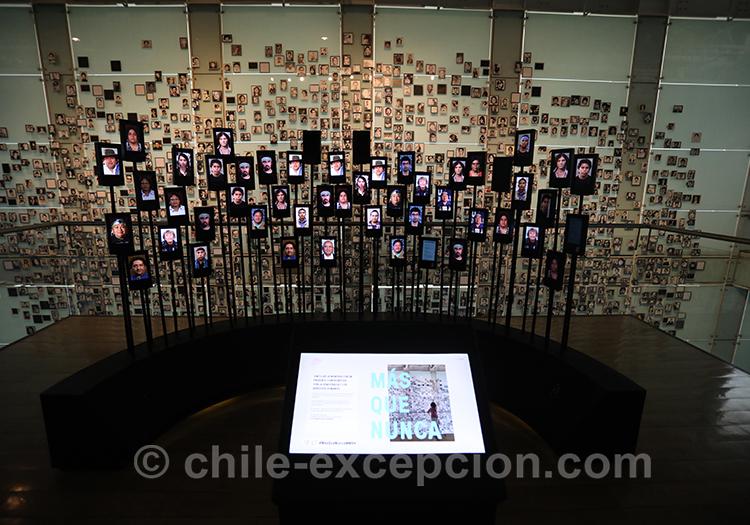 Victimes de la dictature, Santiago de Chile, musée de la mémoire