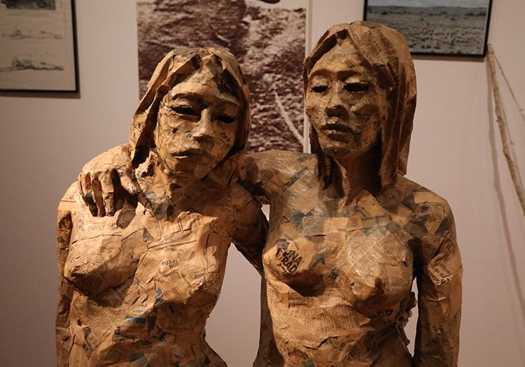 Statues du musée d'Arts Visuels de Santiago