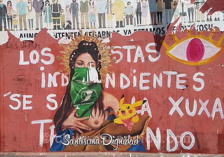 Bandana vert pour l'avortement au Chili