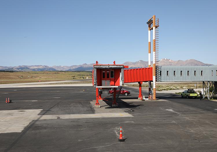 Descendre de l'avion à Coyhaique, Chili