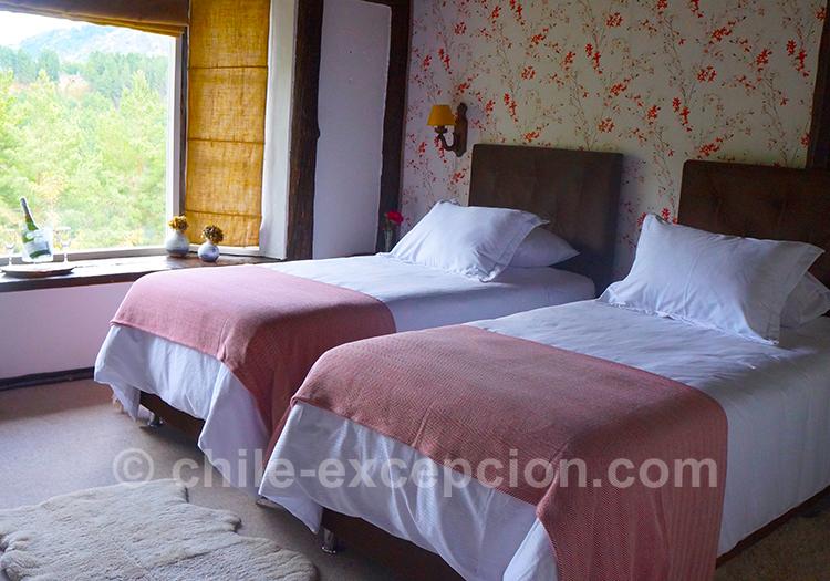 Chambre de l'hôtel The Patagonian Lodge, Coyhaique, Chili