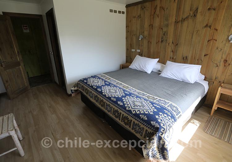 Découvrir les chambres du refuge Cerro Castillo avec l'agence de voyage Chile Excepción