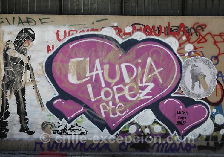 Manifestations et tags au Chili