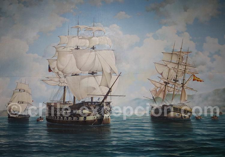 Capture de la frégate espagnole Maria Isabel 1818