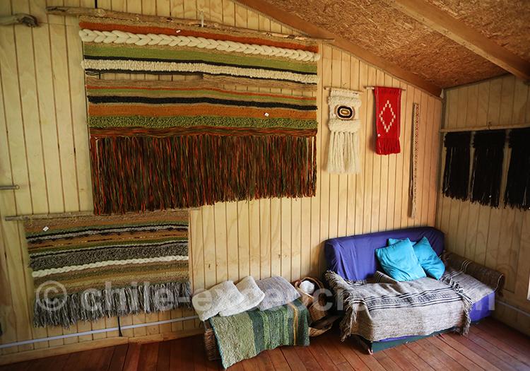 Dans quelle région du Chili trouve-t-on du tissage Mapuche
