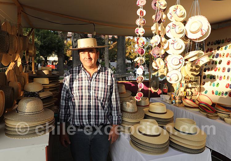 Le chupalla, le chapeaux des huasos