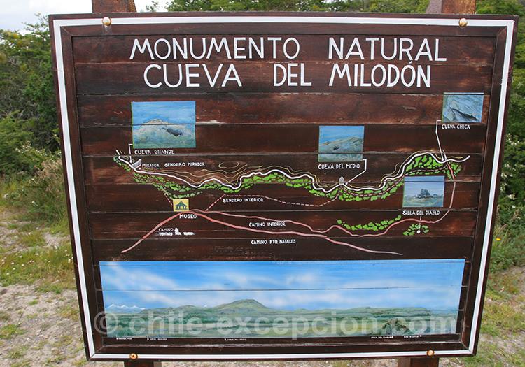 Monument naturel, grotte du Milodon, Chili