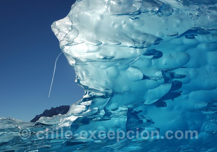 Glace pris de très près au Chili