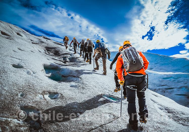 Excursion sur le glacier, depuis l'hotel Lago Grey