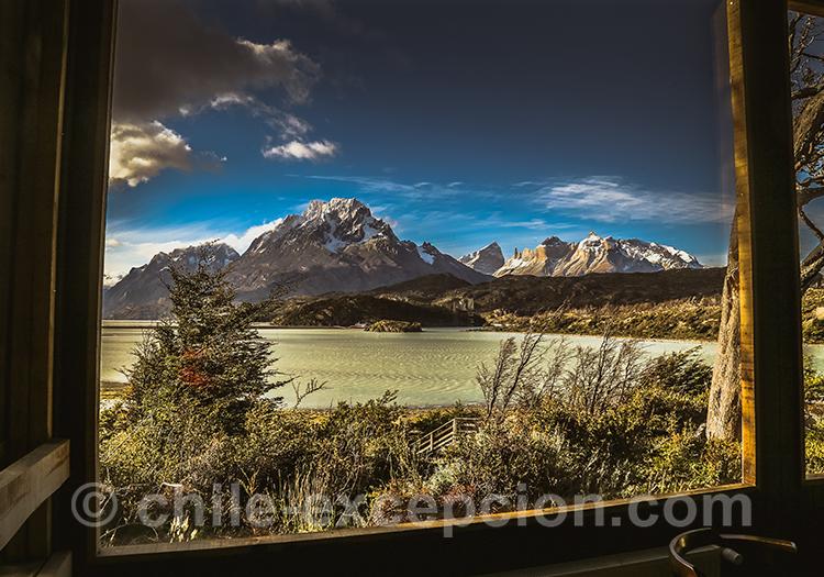 Paysages magnifiques autour de l'hotel Lago Grey, Chili