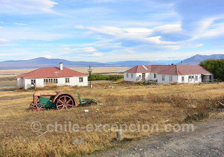 Vue sur l'Estancia Cerro Guido, Patagonie australe du Chili