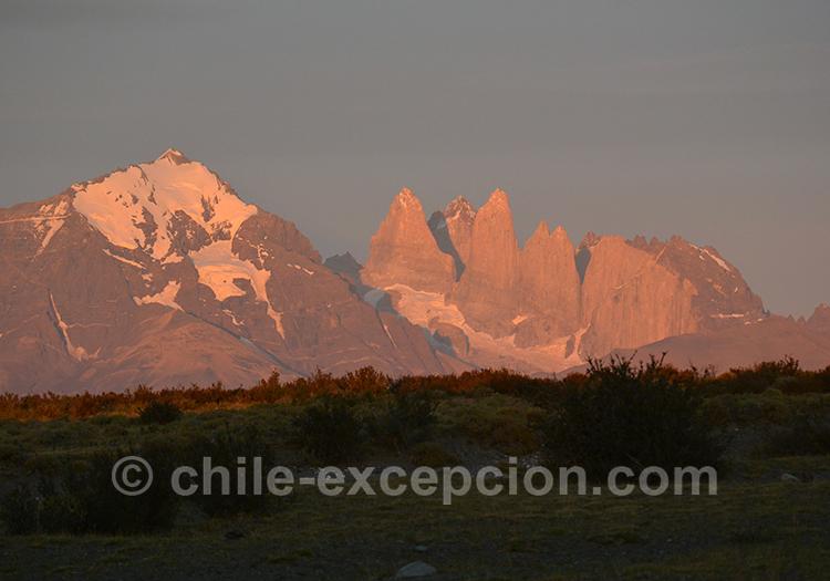 Coucher du soleil sur Torres del Paine