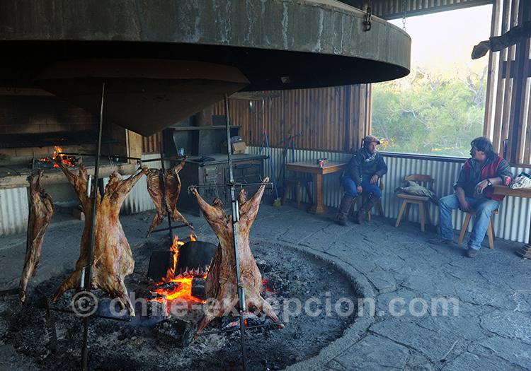 Asado typique de la Patagonie, Chili